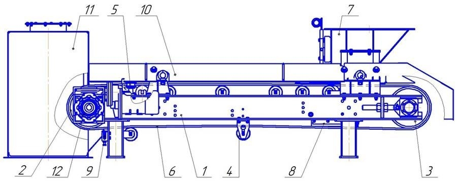 Питатель ленточный ПЛ 1000 транспортер е 5